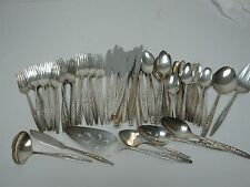 "80 PCS INTERNATIONAL DEEP SILVER SILVERPLATE FLATWARE SET ""LAUREL MIST"""
