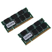 2x 1GB 1G Speicher RAM Memory PC2100 DDR CL2.5 DIMM 266MHz 200-pin Notebook Lapt