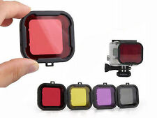 Set of 4 Colour Filters for Go Pro Hero 3 4 Underwater Diving Snorkel UK SELLER