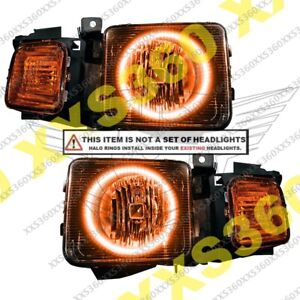 ORACLE Headlight HALO RING KIT for Hummer H2 03-09 AMBER LED Angel Eyes