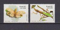 s19213) BRASILE BRAZIL 1987 MNH** Nuovo** Insects 2v