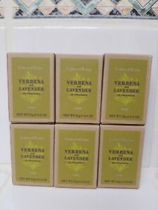 6 x CRABTREE & EVELYN  Verbena & Lavender  Soap 0.9 Oz Each Travel Size New Box
