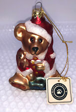 1997 Boyds Bears GlassSmith Collection Large Christmas Ornament Blown Glass