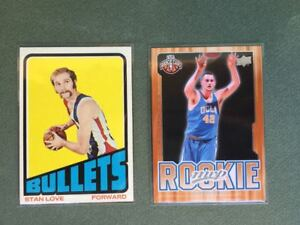 Lot 2 Cartes NBA Kevin Love & Stan Love Topps 19972/73 RC Father & Son