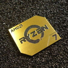 AMD RYZEN 7 CPU PC Logo Label Decal Case Sticker Badge GOLD [428d]