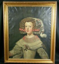 Oil Painting Portrait of Infanta Maria Theresa of Spain after Diego Velazquez