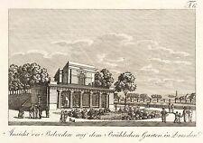 DRESDEN - BELVEDERE & BRÜHLSCHE TERRASSE - Sprinck - Radierung 1815
