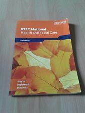Edexcel BTEC National health & social care study guide