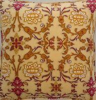A 16 Inch Cushion Cover In Laura Ashley Venetian Velvet Gold Fabric