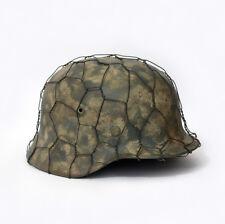 WWII German helmets M35 M40 M42 chicken wire net Aged