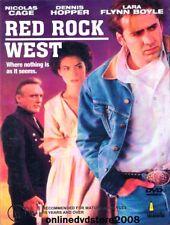 RED ROCK WEST Nicolas CAGE Dennis HOPPER Lara FLYNN BOYLE Thriller Film DVD NEW