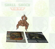 Bakugan: New Vistoria: Subterra: Tan: 590G: FENCER + 2 Cards