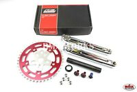 Redline Flight Cranks Set with Silver Spider & 44T Red Chainring 175mm or 180mm