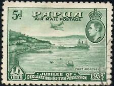 Papua 1938 Airmail - 5d Green   SG.160 Used