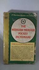 VINTAGE 1962 THE MERRIAM WEBSTER POCKET DICTIONARY PAPERBACK