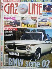 GAZOLINE 29 SIMCA RALLYE 2 BMW E10 1602 1802 2002 KADETT PEUGEOT 403 TRIUMPH GT6