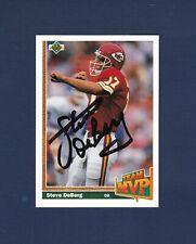 Steve Deberg signed Kansas City Chiefs 1991 Upper Deck Team MVP football card