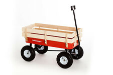 Improved design Traditional Red wagon pull along trolley Retrowagen retro truck