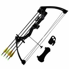 "vidaXL Youth Archery Compound Bow 27"" 15-20lb Accessories Aluminium Arrows"
