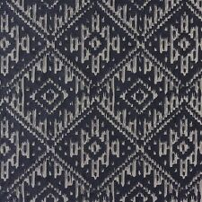 Fibre Naturelle Arizona Apache Damask Charcoal Woven Curtain Upholstery Fabric