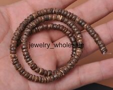 1 Strands Natural Coconut Wood Column Loose Beads 5mm