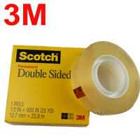 """3M Scotch Double-Coated Tape 665 Double-Sided Roll 1"""" Core Photo Safe 12.7mm*22M"""