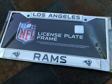 1 Los Angeles Rams Chrome Automobile License Plate Frame