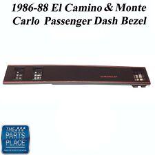 86-88 El Camino / Monte Carlo New Black SS Passenger Dash Bezel W/ AC - Each