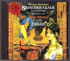 Yuri TEMIRKANOV Signiert RIMSKY-KORSAKOV Scheherazade Russian Easter Overture CD