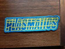 PLASMATICS,SEW ON BLUE AND YELLOW EMBROIDERED PATCH
