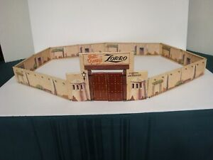 Marx  Zorro Play Set / Complete Tin Litho Zorro Complex Walls & Gate