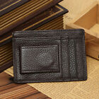 NEW Leather Money Clip Magnet Slim Thin Wallet Pocket ID Credit Card Holders New