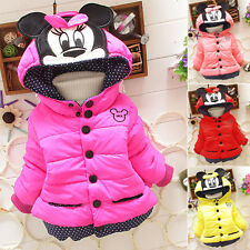 Baby Child Girl Cat Print Hoodie Jacket Hooded Minnie Coats Autumn Warm Outwear