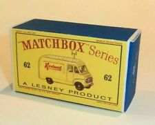 Matchbox Lesney 62 Commer VanRadio RentalsWaterslide Transfer//Decals