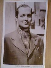 Robert Montgomery- 1930s Vintage Picturegoer POSTCARD