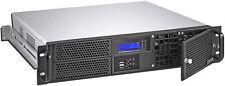"""2U (Fan-LCD)(Micro-ATX / ITX)(2x5.25""""+ 2x3.5"""" HDD)(Rackmount) (D:14.96"""" Case)NEW"""