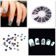 Nail Art Consejos de gemas Glitter Cristal 3D Rueda Diamante imitación