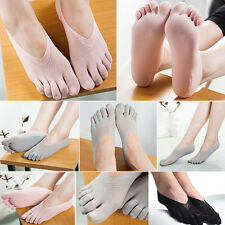 1 Paar Seide Söckchen Damen Socken Zehensocken Fivefingers Fingersocken NEW