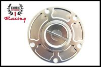 Fuel Gas Cap Cover for Ducati 899 1199 959 1299 Panigale - ALL YEARS  SILVER