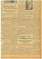 Newspaper ST. PAUL DILLINGER SEARCH GHANDI ATTACKED April 27 1934 3005102WR B13
