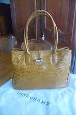 SUBLIME Sac cabas Longchamp Ligne Roseau en cuir vachette façon Croco,
