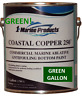 Coastal Copper 250 Ablative Antifouling Bottom Paint Green Gallon