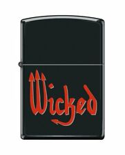 Zippo 3775, Wicked-Pitchfork, Black Matte Finish Lighter, Full Size