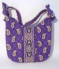 "VERA BRADLEY_Olivia Handbag_""Simply Violet""_Purple Paisley_9"" x 9 1/2""_EUC"