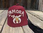 Vintage Zamora Shriner Masonic Fez Hat w/Rhinestones-Jeweled Tassel Holder