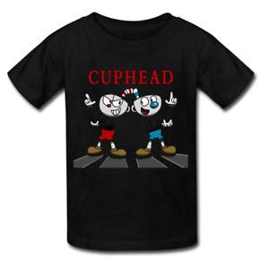 Kid's Cuphead And Mugman! Round Collar T Shirt