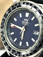 Orient Excursionist Stainless Steel Blue Dial GMT 200M Automatic Mens Watch Used