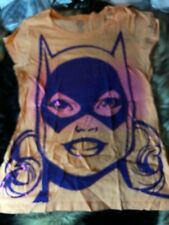 DC Comics Sweet Tangerine+Purple Bat-Girl Tee Size L