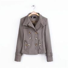 Button Wool Blend Casual Plus Size Coats & Jackets for Women