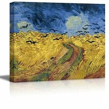 """Wheatfield with Crows by Vincent Van Gogh - Oil Reproduction on Canvas-16"""" x 20"""""""